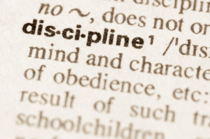 Dictionary definition of word discipline