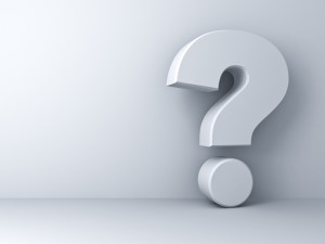 White question mark