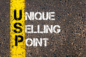 Business Acronym USP as UNIQUE SELLING POINT