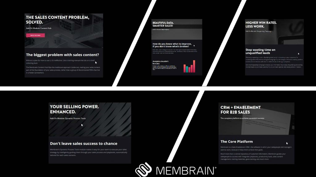 Membrain.com Sales Enablement Software
